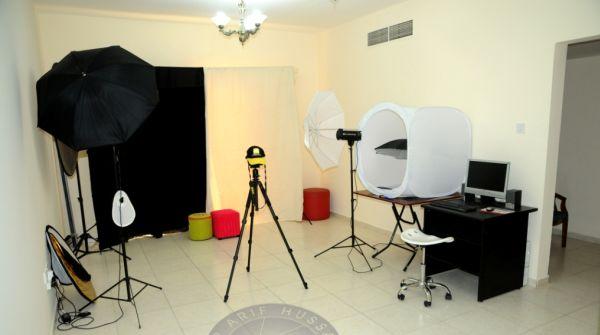 Equipamento de iluminação para estúdio de 80 m²